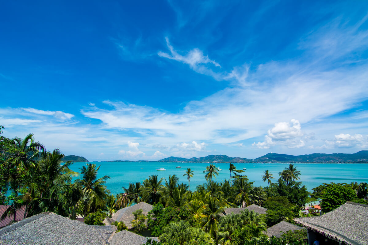 Panoramic view of Phuket from Cape Panwa