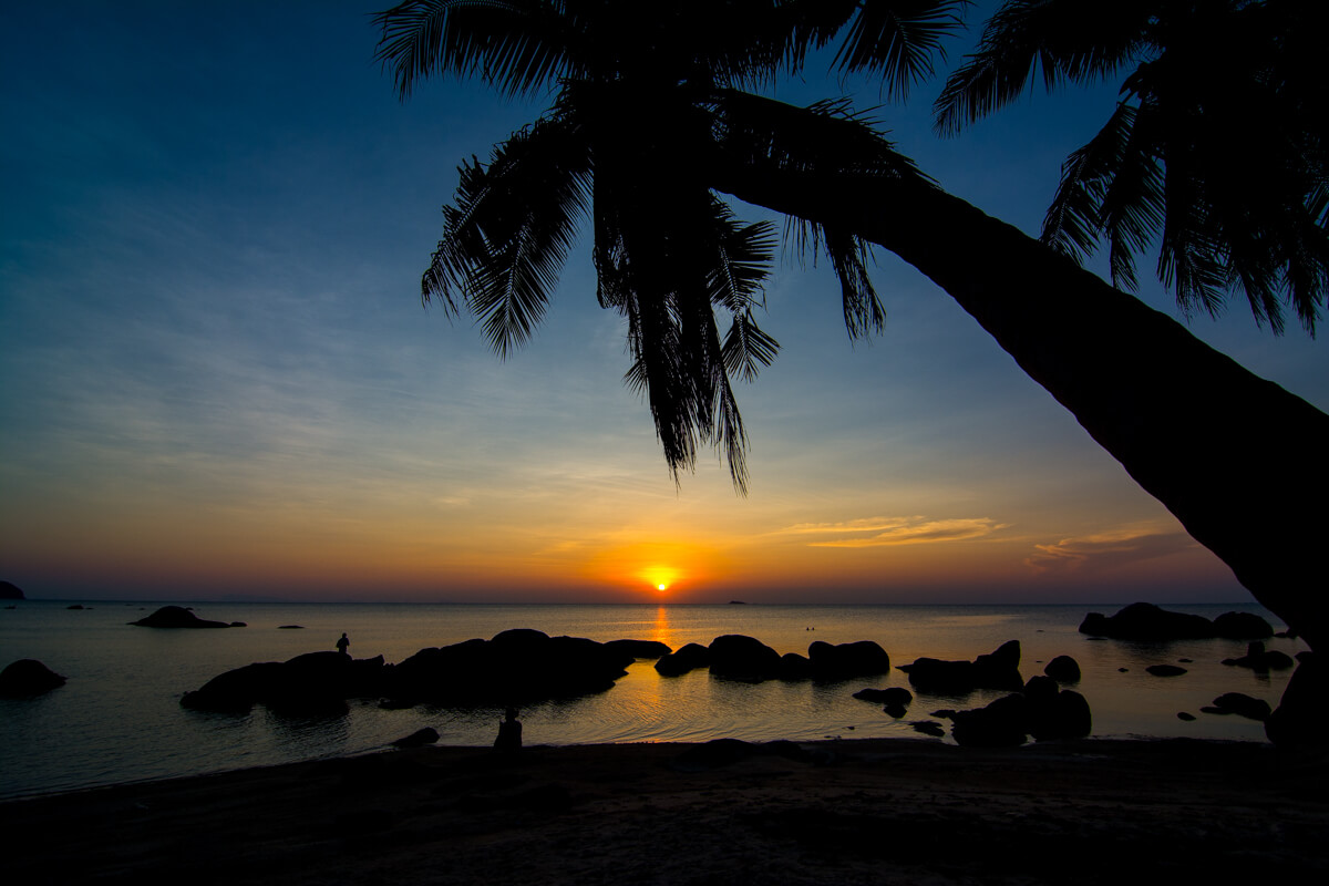Sunset at Koh Phangan, home of the Full Moon Party