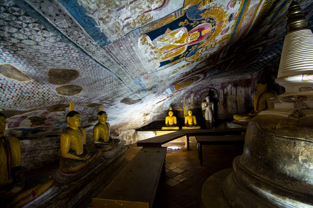 2000 Year Old Murals at the Dambulla Cave Temple