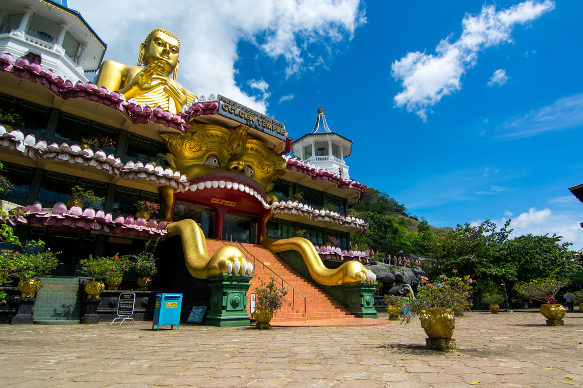 Golden Buddha of the Dambulla Cave Temple