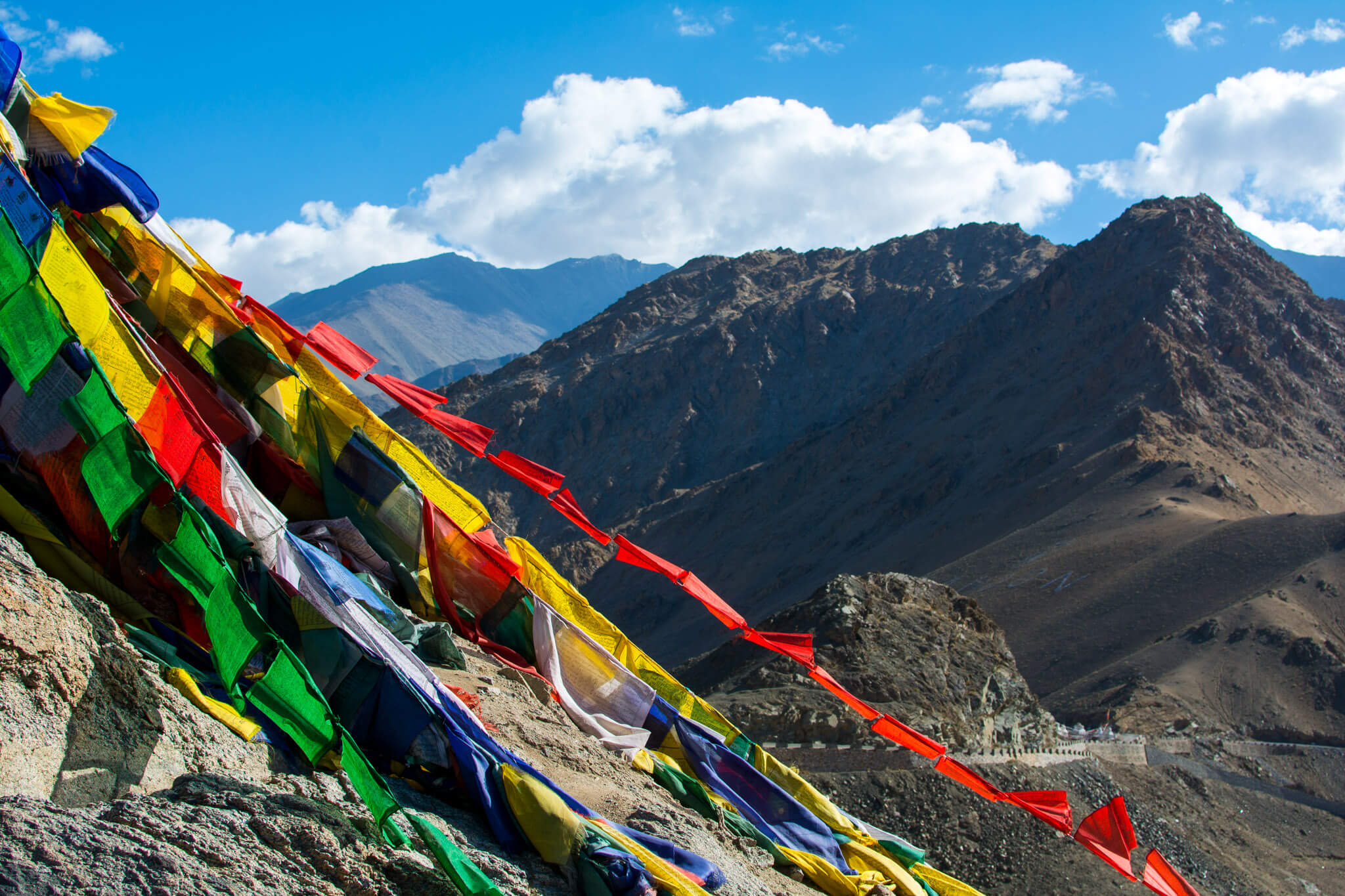 Tibetean prayer flags in Leh, Ladakh