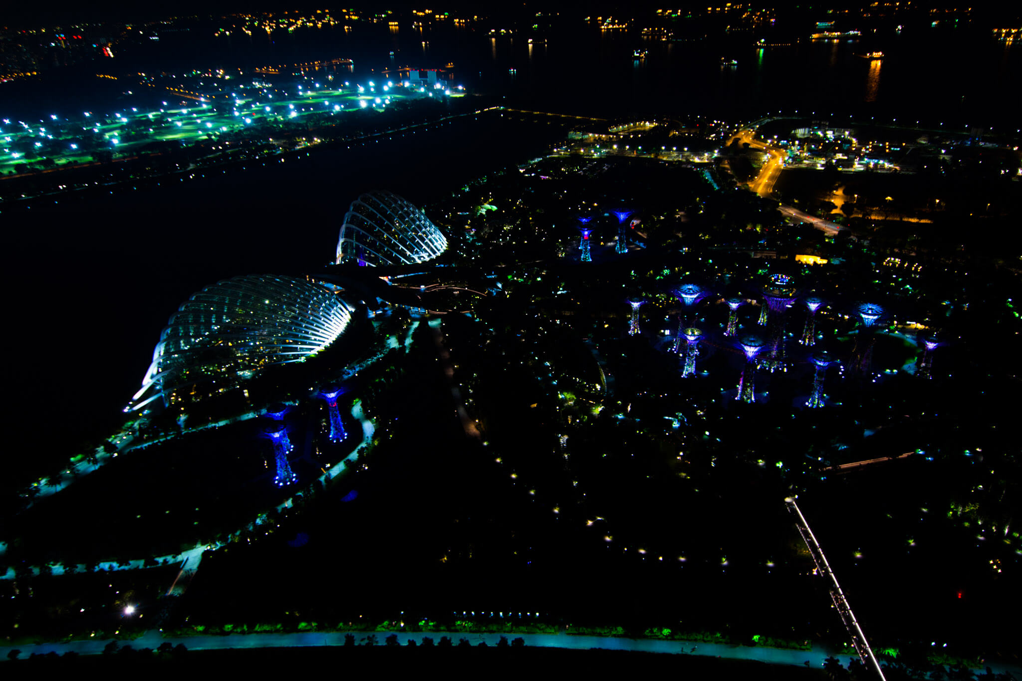 The view from the top of the Marina Bay Sands