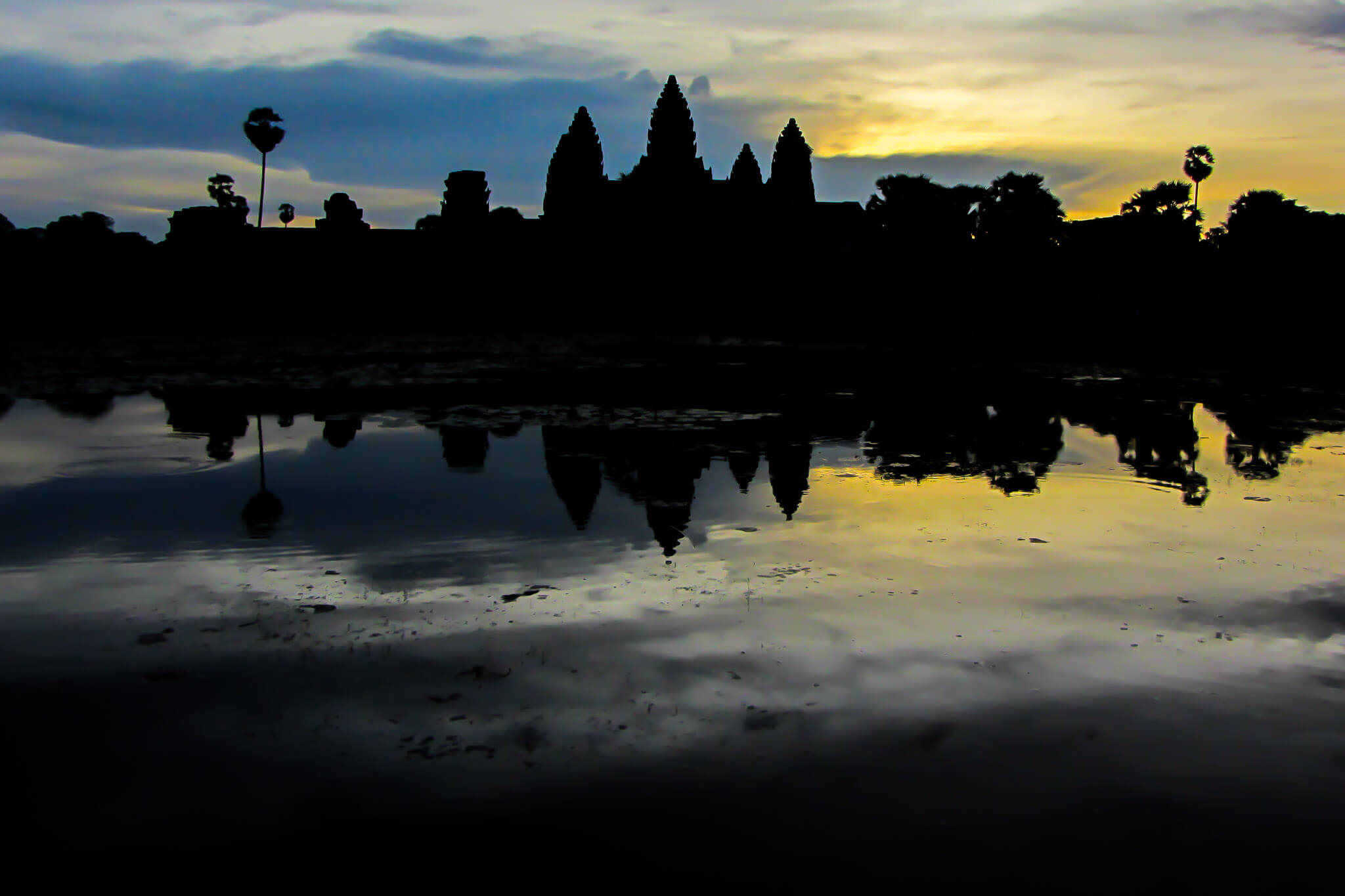 Sunrise at Angkor Wat. Last photo you'll see of a Temple on this article, promise!