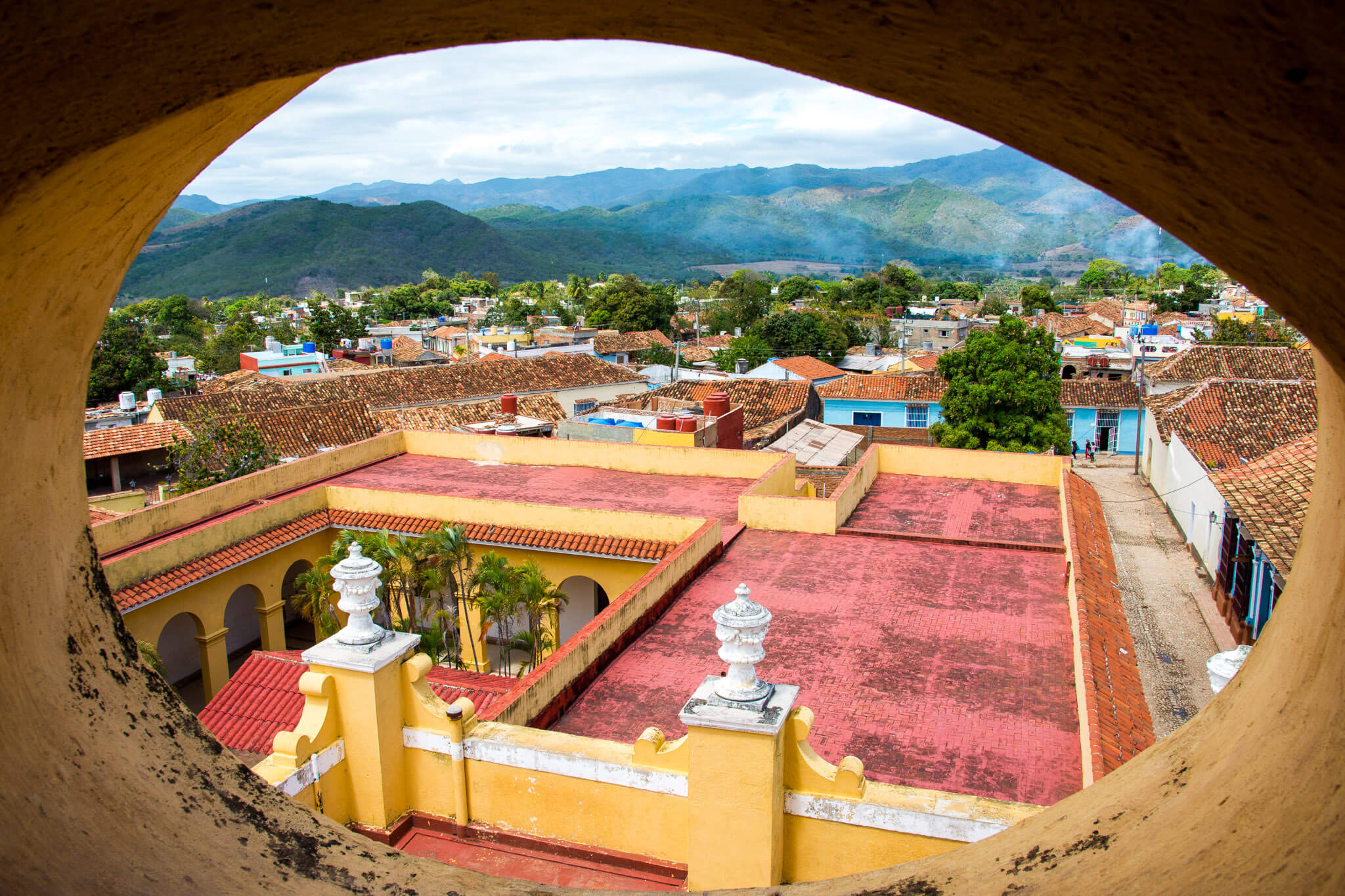 The rooftops of Trinidad, Cuba